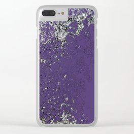 Purple Mold Clear iPhone Case