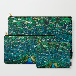:: Peacock Caper :: Carry-All Pouch