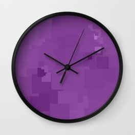 Dewberry Square Pixel Color Accent Wall Clock