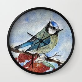 Frosty Bird Wall Clock