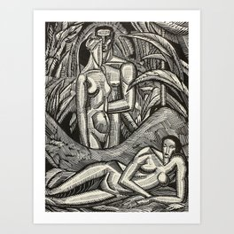 Contemplation, Engraving from Song of Solomon, 1929 by Cecil Buller Art Print
