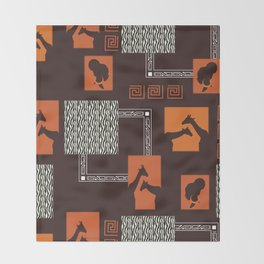 African Tribal Pattern No. 28 Throw Blanket