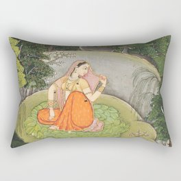 The Heroine Who Waits Anxiously for Her Absent Lover Rectangular Pillow