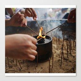 Burning at Nara Canvas Print