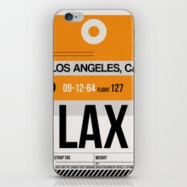 LAX Los Angeles Luggage Tag 2 iPhone Skin