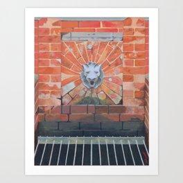 Lion's Head Fountain Art Print
