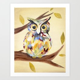 Rosie the Owl Art Print