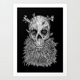 Lumbermancer B/W Art Print