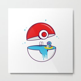 Chill scenes Mr.Squirtle Metal Print