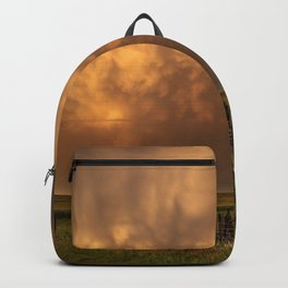Afterglow - Clouds Glow After Storms at Sunset Backpack
