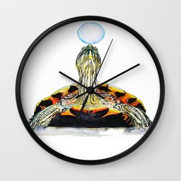 bubble up turtle Wall Clock