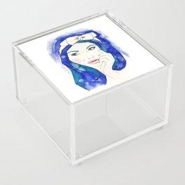 Blue Hair Don't Care Acrylic Box