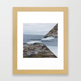 Sea perspective Framed Art Print