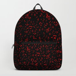 dark red music notes Backpack