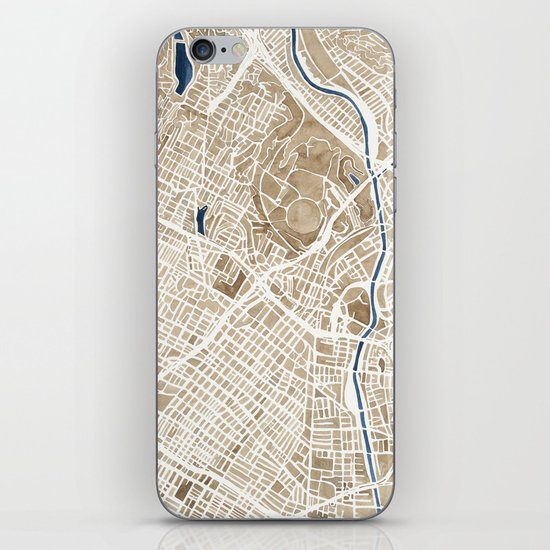 Los Angeles California City Map iPhone & iPod Skin