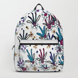 abstract flower meadow Backpack