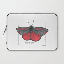 Cinnabar Moth Laptop Sleeve