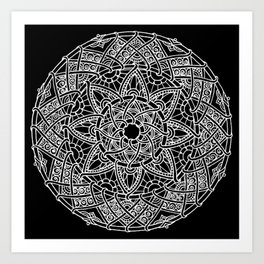 Family: forever intertwined (black) Art Print