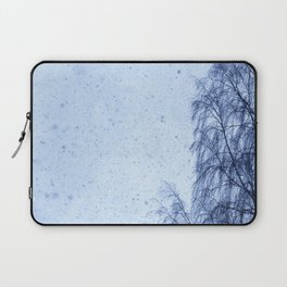 Just snowfall and birch Laptop Sleeve