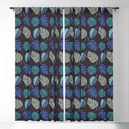 Blue Frond Blackout Curtain