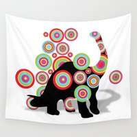 dinosaurs Wall Tapestries featuring dinosaurs by mark ashkenazi