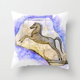 Egyptian horse Throw Pillow