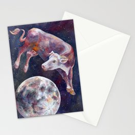 The Cow Jumped Over The Moon - III Stationery Cards