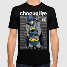 Choose Life MEDIUM Black Mens Fitted Tee
