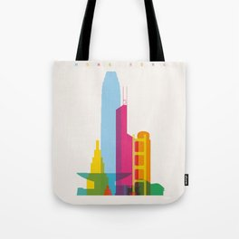 Shapes of Hong Kong. Accurate to scale Tote Bag
