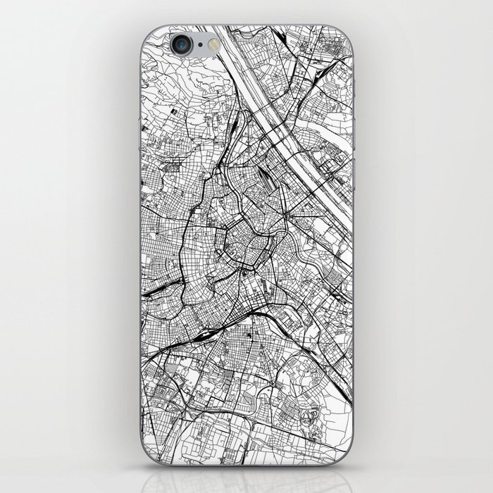 Vienna White Map iPhone Skin