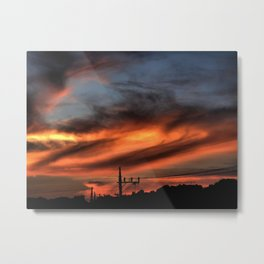 Smoke and Fire Metal Print