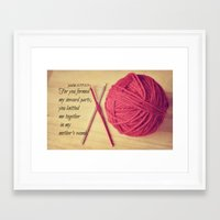 scripture Framed Art Prints featuring Psalm 139 Baby Scripture by KimberosePhotography