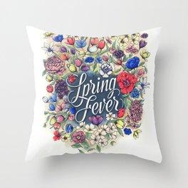 Spring Fever Flowers Throw Pillow