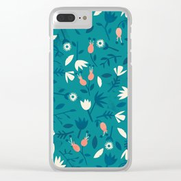 Little flowers Clear iPhone Case