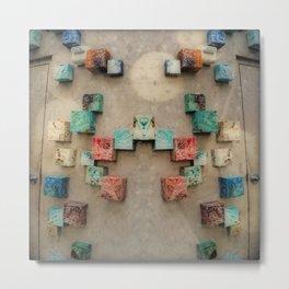 Toppled Ceramic Tiling 1 Metal Print