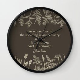 For where love is... Claire Fraser in Sepia Wall Clock