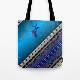 Elk Spirit (Blue) Tote Bag