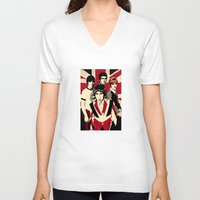 the who V-neck T-shirts featuring wHO? by f_e_l_i_x_x