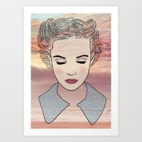 dreamer Art Prints featuring DREAMER by Laure.B