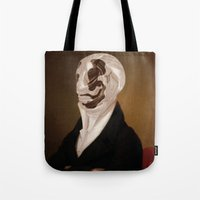 rorschach Tote Bags featuring Rorschach by DIVIDUS
