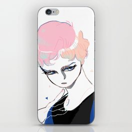 Glass Eyed Boy iPhone Skin