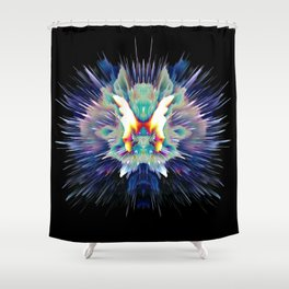 Light Butterfly Explosion Shower Curtain