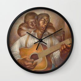 African-American 1952 Classical Masterpiece 'Goodnight Irene' by Charles White Wall Clock