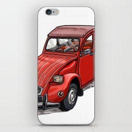 Red 2cv iPhone Skin
