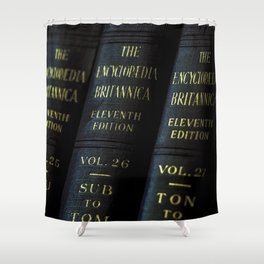 Encyclopedia Britannica 11th Edition Shower Curtain