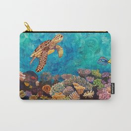 A Look around - Sea turtle in the reef Carry-All Pouch