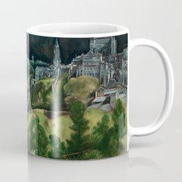 """El Greco (Domenikos Theotokopoulos) """"View of Toledo"""" Coffee Mug"""