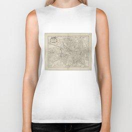 Vintage Map of Toulouse France (1844) Biker Tank