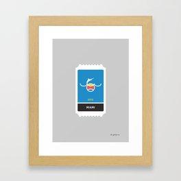 Miami Baseball Ticket (21 of 30) Framed Art Print