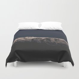 Dreamy sunset on the mountain top Duvet Cover